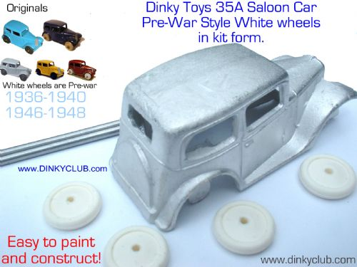 A DINKY TOYS COPY MODEL 35A PRE-WAR SALOON CAR [ IN KIT FORM ]